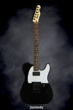 Squier Jim Root Telecaster - Flat Black | Sweetwater.com | Solidbody Electric Guitar with Mahogany Body, Maple Neck, Rosewood Fingerboard, and Two Humbucking Pickup - Flat Black