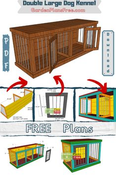 This is a free plan to build a double large dog kennel out of wood and revars. This is a super easy to make project for your living room. My plans come with step by step diagram, full cut and shopping lists. Pdf download as well. #dogkennel #doubledogkennel #indoordoghouse Build A Dog House, Dog House Plans, Diy Store, Shopping Lists, Large Dogs, Super Easy, Diagram, Pdf, How To Plan