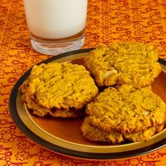 Kalyn's Kitchen®: Recipe for Low-Sugar and Whole Wheat Pumpkin Cookies with Almonds and Coconut Oil