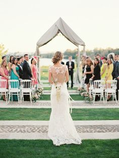 Stunning shot! We love the bride's Claire Pettibone gown photo by www.romanceweddings.co.uk