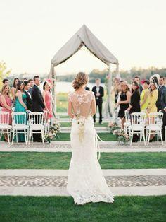 Stunning shot! We love the bride's Claire Pettibone gown photo by www.romanceweddings.co.uk