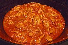 Pulled Chicken in einer Honey-Mustard-BBQ Sauce (Rezept mit Bild) | Chefkoch.de