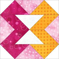 "The GO! Ribbons 8"" Block - FREE Quilt Block Patterns #quilting #diy #decor"