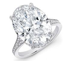 10 Carat Oval Diamond Ring