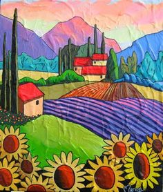The song of cicadas by Louise Marion - Louise Marion, artiste peintre, paysage urbain, Quebec, couleurs