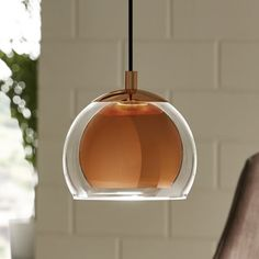 The Rocamar single pendant light from Eglo is a simple modern design light fitting finished in copper and clear glass. Copper Pendant Lights, Copper Lighting, Glass Pendant Light, Luxury Lighting, Kitchen Island Lighting Uk, Kitchen Bar Lights, Bar Kitchen, Design Kitchen, Kitchen Cabinets