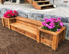 Outdoor Planter Steps or Benches Ana White is part of Woodworking projects - These outdoor planter steps are easy to make and could also work as outdoor benches Free plans by ANAWHITE com Easy Woodworking Projects, Popular Woodworking, Diy Wood Projects, Outdoor Projects, Garden Projects, Woodworking Tools, Woodworking Furniture, Youtube Woodworking, Woodworking Equipment
