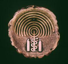 Kemal ULUDAĞ, 2002, Adam and Eve - Adem ile Havva, Ø 35 cm. Stoneware-1200 °C