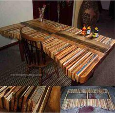 DIY Pallet Table ..............FOLLOW DIY FUN IDEAS! .............Best DIY Site Ever!!