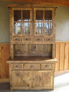Aged Oak Step Back Cupboard