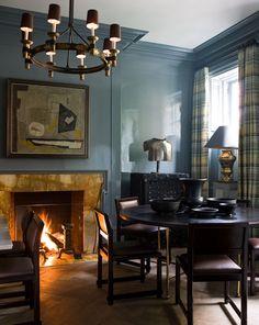 Home Interior, Interior Decorating, Interior Design, Decorating Ideas, Modern Interior, Blue Rooms, Blue Walls, Ideas Para Organizar, Gambrel
