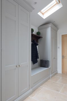 boot room/utility want to be able to store car seats, pushchair etc in here. Plus normal utilities and boot room facilities Hallway Cupboards, Hallway Storage, Wall Storage, Storage Spaces, Boot Room Storage, Mudroom Cabinets, Coat Storage, Open Plan Kitchen Dining, Living Room Kitchen