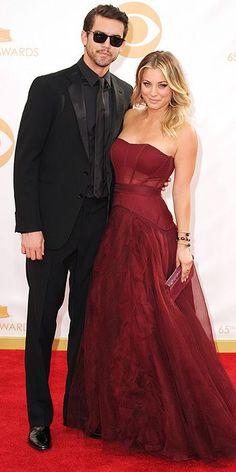 Emmy Awards 2013 - Ryan Sweeting and Kaley Cuoco