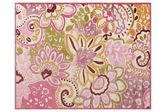 Wren Rug, Cream/Pink on OneKingsLane.com    Sarina's room