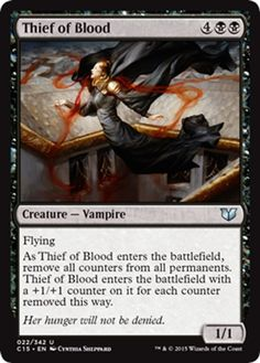 $1 AUD - Mtg Magic - (U) Commander 2015 - Thief Of Blood - Nm/M #ebay #Collectibles