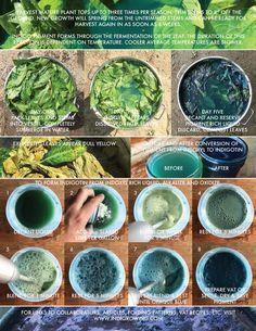 Indigo Extraction One Sheet Fabric Yarn, How To Dye Fabric, How To Make Ink, Natural Dye Fabric, Natural Dyeing, Indigo Dye, Hand Dyed Yarn, Crafts To Do, Shibori