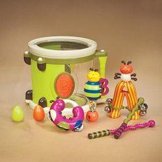 Zestaw 8 barwnych instrumentów - MamaGama: SPRAWDZONE i przydatne akcesoria dla mam i dzieci.