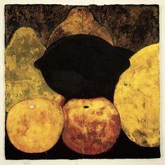 Donald Sultan(American, b.1951) Three Apples Three Pears and a Lemon Dec 61986