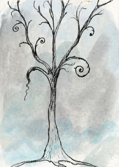 Gothic Tree Greeting Card by Jacquie Gouveia