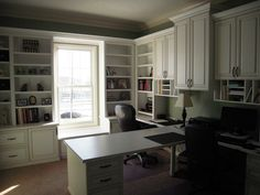 Indianapolis Home Office Cabinets Home Office Cabinets, Home Office Furniture, Pipe Furniture, Furniture Decor, Furniture Design, Cool Office Space, Desk Space, Office Spaces, Office Wall Decor