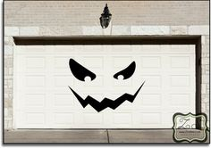 HUGE Jackolantern Garage Halloween Decoration Decal 80w by Zindee, $84.00