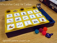 Free Download for ARTICULATION cards to insert into the game Cariboo. From Speech Room News.