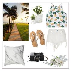 """""""Summer day is coming"""" by oosilk-bedding ❤ liked on Polyvore featuring River Island and Hollister Co."""