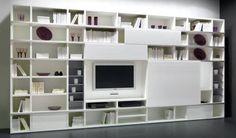 libreria a giorno bianca tv - Cerca con Google