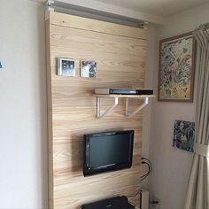 女性で、3DKのアクセントウォール/ラブリコ/IKEA/壁掛けテレビ/DIY/リビング…などについてのインテリア実例を紹介。「ラブリコでアクセントウォールを作りました。」(この写真は 2017-03-29 17:06:10 に共有されました)