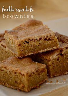 Cookie Crumbs & Sawdust: butterscotch brownies