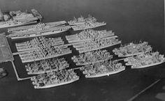 USN Reserve Fleet (Mothball Fleet) at Hunters Point, San Francisco, September 24, 1950.  Reginald McGovern