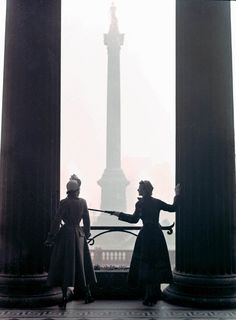 Norman Parkinson ( Photo taken from the portico of the National Gallery overlooking Nelsons Column Trafalgar Square London )