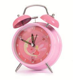 Een lieve wekker voor in de meisjeskamer. De wekker tikt niet, lekker rustig dus!