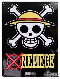 Plaque métal One Piece Skull Luffy - Abystyle