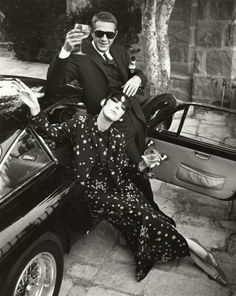 Peggy Moffitt and Steve McQueen
