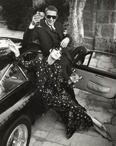 theswingingsixties:    Peggy Moffitt and Steve McQueen @manubirba #manubirba