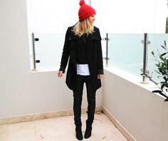 Melbourne Blogger See Want Shop dressed in the DECJUBA Ruth Coat & DECJUBA Highway Ponti Pant
