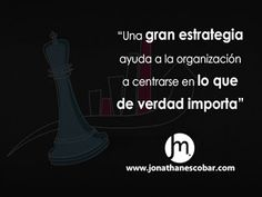 A great strategy / Una gran estrategia