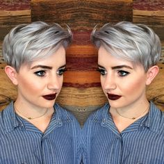 Silver Pixie. We're searching for a credit for this great color and haircut! hotonbeauty.com