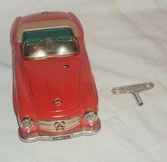 Schuco toys   Vintage Schuco 2095 Mercedes Benz FERNLENK190SL Wind Up Tinplate Toy ...