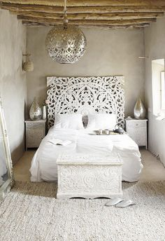 Love the headboard. Could sub with wall hangings?