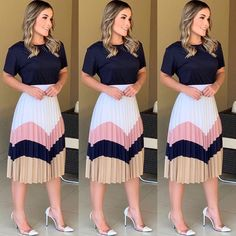 Modest Wear Source by outfits Mode Outfits, Skirt Outfits, Fashion Outfits, Jupe Midi Style, Work Fashion, Modest Fashion, Fashion Fashion, Classy Outfits, Trendy Outfits