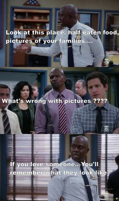Jake Peralta, Terry Jeffords, and Captain Ray Holt