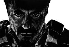Robert Downey Jr Scratchboard 10inx8in via /r/Art...