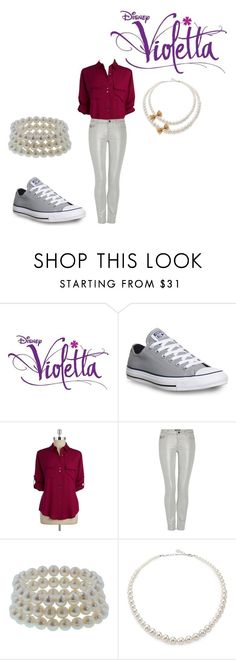 """Es mi pasión Outfit: Ludmila"" by malia-the-otaku ❤ liked on Polyvore featuring Converse, Ivanka Trump, Morgan, Honora and Majorica"