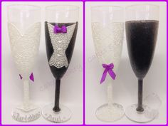 Wedding toasting glasses… these took hours to paint but I love how they turned out and hope the bride and groom do too!!!