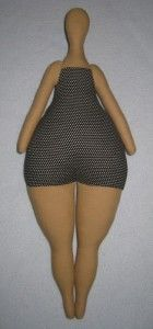 A fat bottomed doll by Mimin Dolls: tilda style sailor