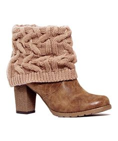 Loving this Mocha Mousse Chris Knit-Cuff Bootie on #zulily! #zulilyfinds
