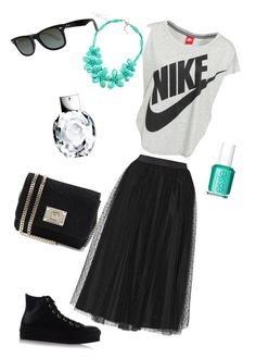 Untitled #21 by alexandra-gabriela on Polyvore featuring polyvore, мода, style, NIKE, RED Valentino, Converse, Jimmy Choo, Ray-Ban, Emporio Armani and Essie