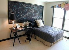 bedroom decoration with a space theme